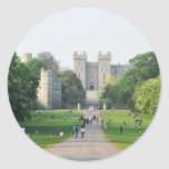 Windsor castle classic round sticker