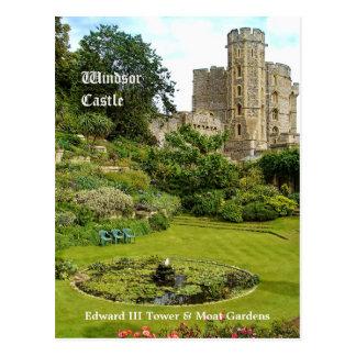 Windsor Castle - Edward III Tower & Moat Garden Postcard