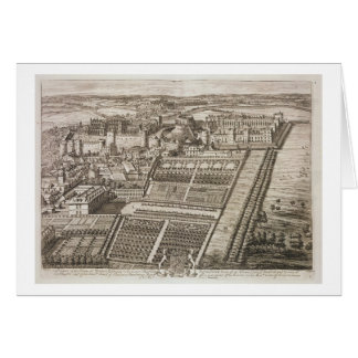 Windsor Castle, engraved by Johannes Kip (c.1652-1 Greeting Card