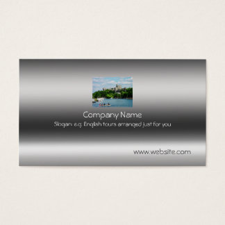 Windsor Castle from River Thames on metallic-look Business Card