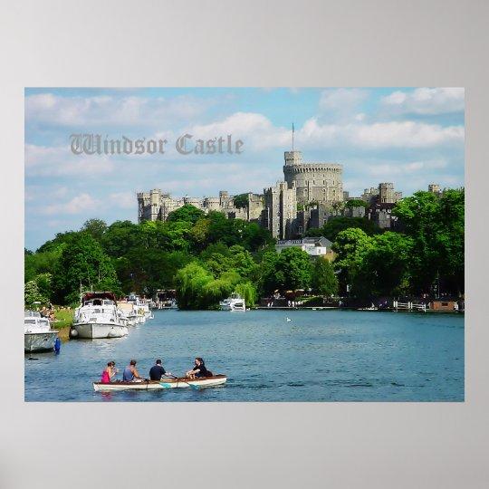 Windsor Castle from Thames Poster