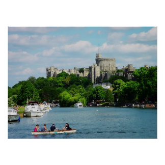 Windsor Castle from Thames poster print