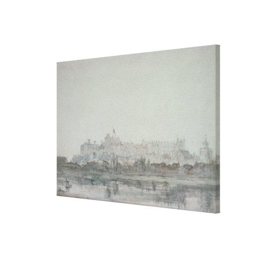 Windsor Castle from the River, 19th century Canvas Print