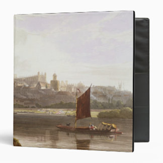 Windsor Castle from the River Meadow on the Thames 3 Ring Binder