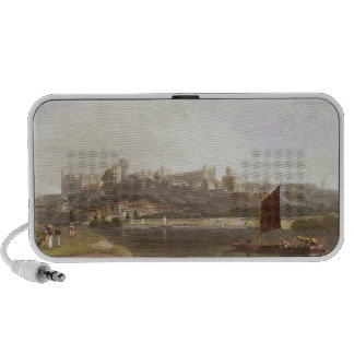 Windsor Castle from the River Meadow on the Thames Notebook Speakers