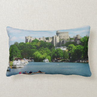 Windsor Castle from the Thames Lumbar Pillow
