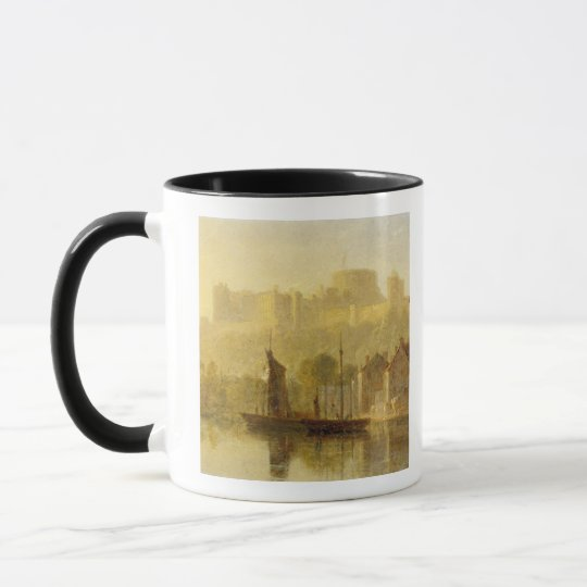 Windsor Castle from the Thames (oil on millboard) Mug