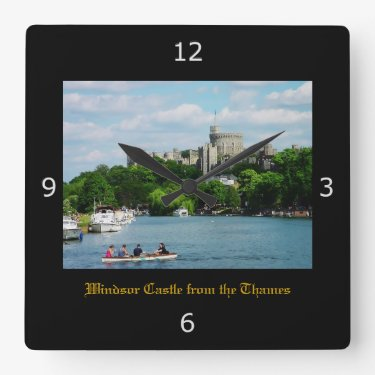 Windsor Castle from the Thames Square Wall Clocks