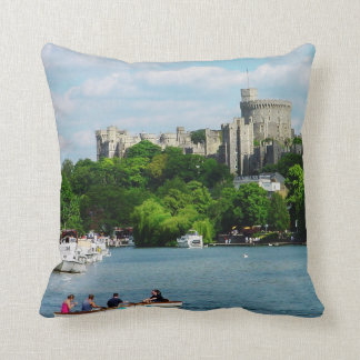 Windsor Castle from the Thames Throw Pillow