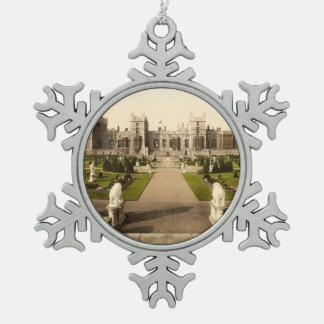 Windsor Castle I, Berkshire, England Snowflake Pewter Christmas Ornament