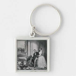 Windsor Castle in modern times Silver-Colored Square Keychain