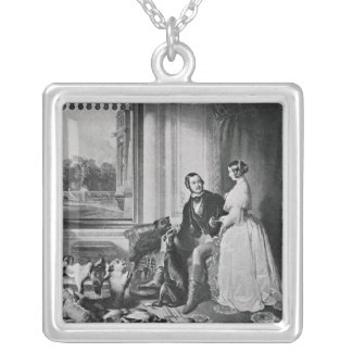 Windsor Castle in modern times Silver Plated Necklace