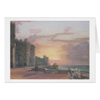 Windsor Castle: North Terrace looking west at suns Card