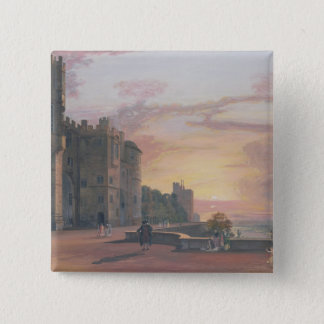 Windsor Castle: North Terrace looking west at suns Pinback Button