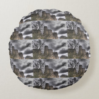 Windsor castle old ancient mysterious stone build round pillow