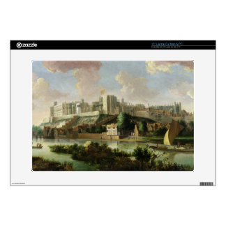 """Windsor Castle seen from the Thames, c.1700 (oil o 15"""" Laptop Decals"""