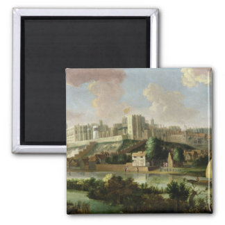 Windsor Castle seen from the Thames, c.1700 (oil o 2 Inch Square Magnet