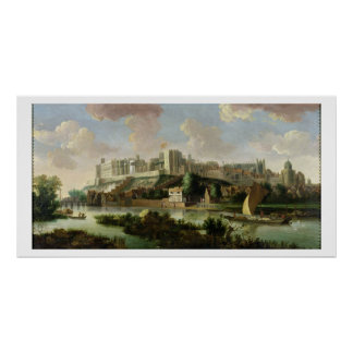 Windsor Castle seen from the Thames, c.1700 (oil o Poster