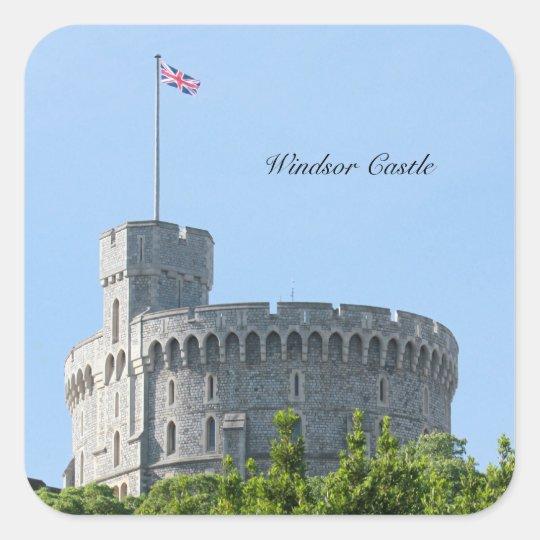 Windsor Castle Square Sticker