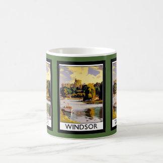 Windsor Castle Vintage Travel  Poster Coffee Mug