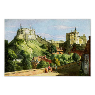 Windsor Castle Watercolor Painting Fine Art Print! Poster