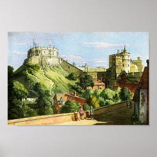 Windsor Castle Watercolor Painting Fine Art Print! Poster