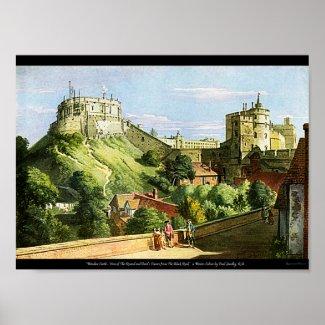 Windsor Castle Watercolor Painting Hi Res Print! print