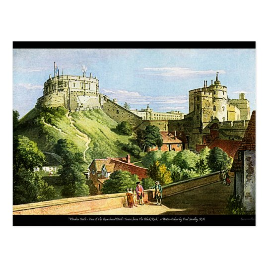 Windsor Castle Watercolor Painting Postcard! Postcard