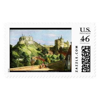 Windsor Castle Watercolor Painting U.S. Stamp!