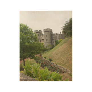 Windsor Castle Wood Poster
