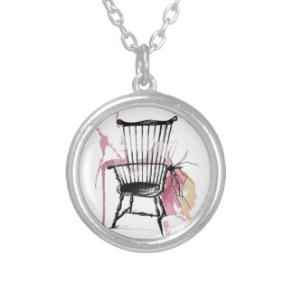 Windsor Chair Silver Plated Necklace