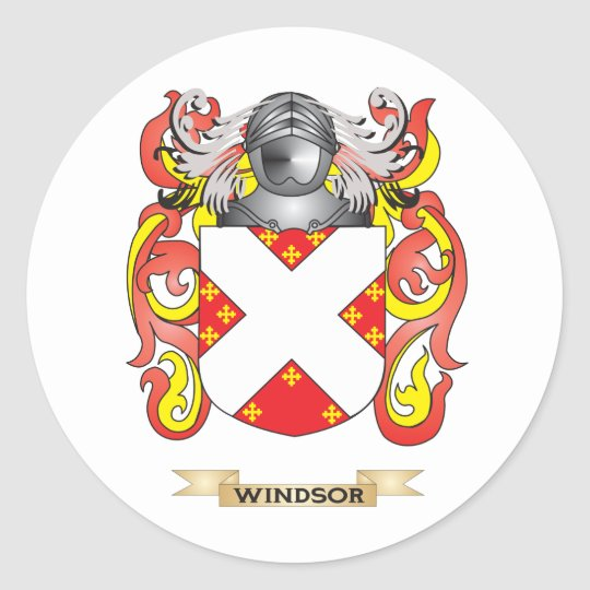 Windsor Family Crest (Coat of Arms) Classic Round Sticker
