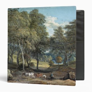 Windsor Forest with Oxen Drawing Timber, 1798 3 Ring Binder