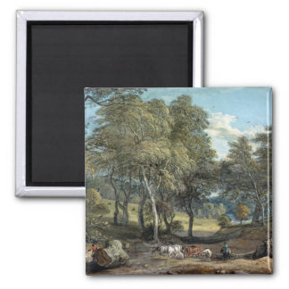 Windsor Forest with Oxen Drawing Timber, 1798 Magnet