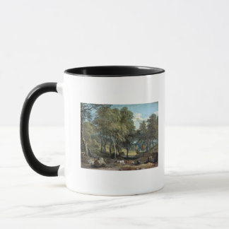 Windsor Forest with Oxen Drawing Timber, 1798 Mug