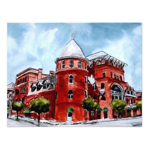 Windsor Hotel Americus Georgia painting art Custom Invitation