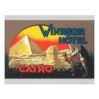 Windsor Hotel Cairo, Vintage Flyer