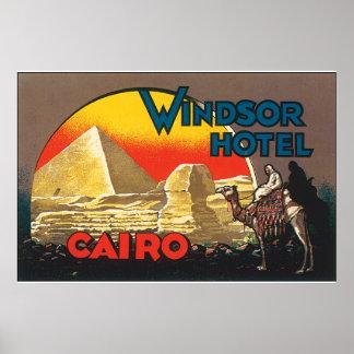 Windsor Hotel Cairo_Vintage Travel Poster Artwork