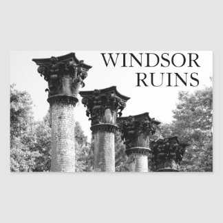 Windsor in Black & White Rectangle Stickers