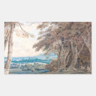 Windsor Joseph Mallord William Turner scenery art Rectangular Sticker