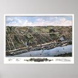 Windsor Locks, CT Panoramic Map - 1877 Poster