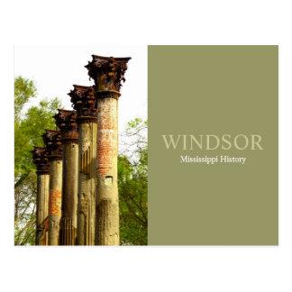 Windsor - Mississippi History Post Card