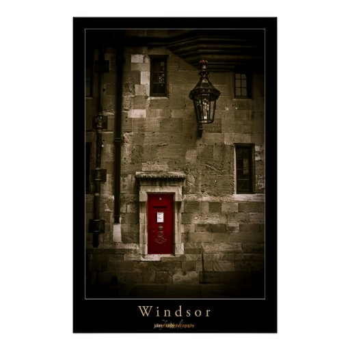 Windsor Postbox Poster
