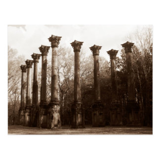 Windsor Ruins of Mississippi - Sepia Copper Tone Postcard