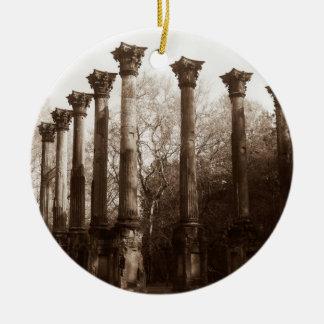 Windsor Ruins - Sepia Photography Ceramic Ornament