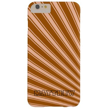 Aztec Themed Windsor tan Color Stripe Funky Pattern Barely There iPhone 6 Plus Case