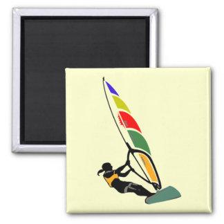 Windsurf con el entusiasmo imán cuadrado