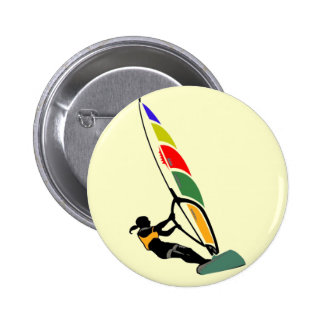 Windsurf con el entusiasmo pin redondo 5 cm