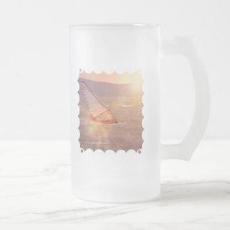 Windsurf Design Frosted Beer Mug