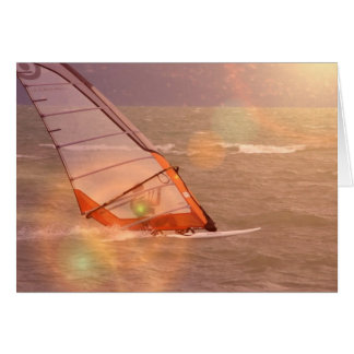 Windsurf Design Greeting Card